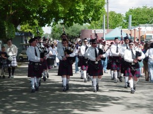 Marching down the lane